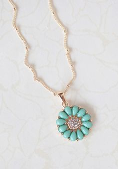 Floral Wishes Necklace In Mint | Modern Vintage Jewelry