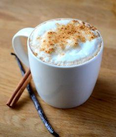 Homemade Vanilla Cinnamon Latte #coffee