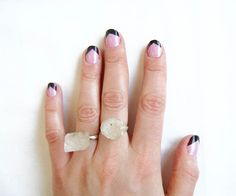 Chevron Geometric Nails in Pink and Purple