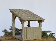 Nativity Creche Stable by ArksAndAngelsMDallas on Etsy
