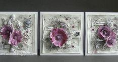 Dorota_mk (Dorota (Kopeć) Kotowicz: Monochromatycznie z różowym akcentem Mixed Media Cards, Cardmaking, Shabby Chic, Gallery Wall, Handmade Cards, Create, Blog, Flowers, How To Make