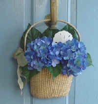 Hydrangea Nantucket Wall Basket