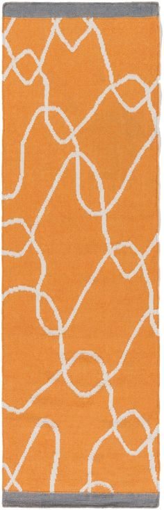 Surya TXT3000 Textila Orange Runner Area Rug