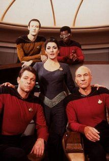 William Shatner is still the best captain, but Stewart is pretty good. Data is the best character in this series.