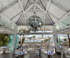 The magnificent dining area at The Sea Grill Restaurant at Puente Romano, Marbella, Spain