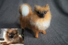 Made by me #JanetsNeedleFelting #Pomeranian #Ilovemydog #petportrati #arts #petreplica