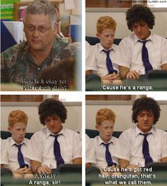 High school can be tough, so let Chris Lilley help you out. Summer Heights High, Chris Lilley, Private School Girl, Aussie Memes, High Quotes, Lame Jokes, Comedy Tv, School Daze, School Memes