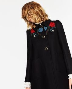 COAT WITH EMBROIDERED YOKE-Coats-OUTERWEAR-WOMAN-SALE | ZARA United States