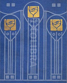 Art Nouveau Glasgow School book design (An original highly-stylized Art Nouveau design for a book binding, in the style of leading...)