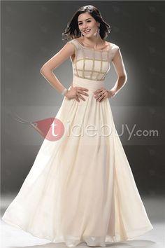 Precioso Vestido de Prom/Evento con Correas Silueta Línea A Largo al Piso (Envío Gratuito)