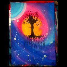 #sketch #tree #painting #watercolor #artworks #draw #drawing #branches #rainbow #aurora #artist