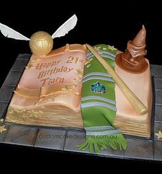 Slytherin Harry Potter Book Cake