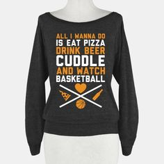 Pizza, Beer, Cuddling, And Basketball #basketball #pizza #beer