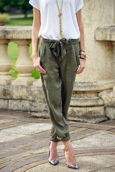 Army green pants