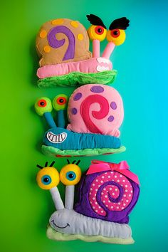snails. All from sponge bob :-) Maybe I could make these for the goodie bags. I do love a challenge!