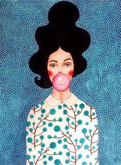 Por amor al arte: Hülya Özdemir Art And Illustration, Illustrations, Painting Inspiration, Art Inspo, Poster Photo, Instalation Art, Art Watercolor, Fashion Painting, Portrait Art
