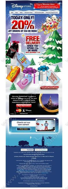 Company:  The Walt Disney Co Ltd (UK)   Subject:  Craig, 20% off - today only!             INBOXVISION is a global database and email gallery of 1.5 million B2C and B2B promotional emails and newsletter templates, providing email design ideas and email marketing intelligence http://www.inboxvision.com/blog