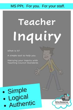 Teacher inquiry needn't be onerous or a token gesture to admin.  Make it easy and authentic with the key feature of this guide - the 'DAFT' template which features, not just the effective acronym, but the in-a-nutshell strategy of 'tryflecting'.  Make it fun, worthwhile and manageable.  Designed for teachers by a teacher experienced in coaching staff with a big reality hat on.  Used and loved by several school already and now it's time to share!  buy one and share it with your whole school!