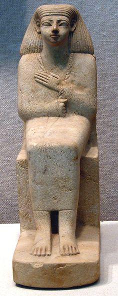 Statue of a Seated Man in a Cloak  Date: ca. 1802–1640 B.C. 13 dyn  Accession Number: 30.8.73