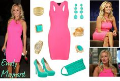 """""""Hot Pink + Turquoise - Inspired by Emily Maynard"""" by lilmissmegan on Polyvore"""