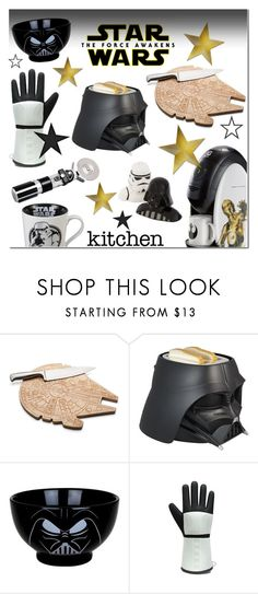 """""""Star Wars: The Force Awakens Kitchen"""" by anna-anica ❤ liked on Polyvore featuring interior, interiors, interior design, home, home decor, interior decorating, ThinkGeek, kitchen, starwars and contestentry"""