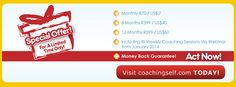 CoachingSelf.com Irresistible Year-End Offer for You.... we have decided to slash our prices to support you to kick-start 2014.  For a limited time only....HURRY UP and REGISTER and SUBSCRIBE... Self Help, Coaching, Life, Training, Life Coaching