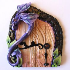 sandylandya@outlook.es Violet Dragon Fairy Door Pixie Portal by Claybykim on Etsy, $26.00