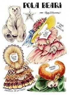 The Teddy Bear and Friends Paper Doll Fantasy: Pola Beari