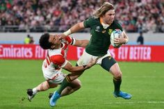 South Africa scrum-half Faf de Klerk led a tackling blitzkrieg to help South Africa snuff out Japan' ...