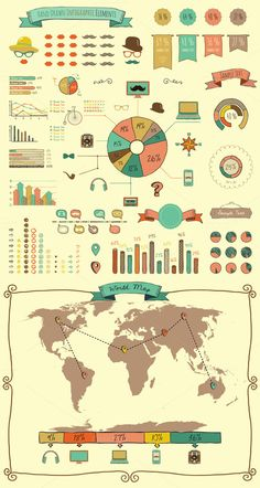 Check out Elements and Icons of Infographics by Olka on Creative Market