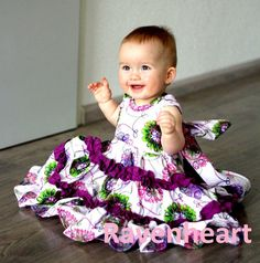 SALE..Buy 2 get 1 free..Juliette....Sweetheart Neck Reverse Knot Girls Tiered Dress Instant Download PDF Sewing Pattern,  Sz 6-12 M to 8
