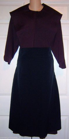 "SOLD Amish Dress Cape and Apron 42""B/36""W Authentic Pa. Dutch Amish Clothing"