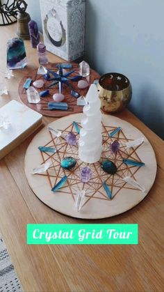 Crystals Minerals, Rocks And Minerals, Crystals And Gemstones, Stones And Crystals, Witchcraft Symbols, Displaying Crystals, Altar Decorations, Crystal Healing Stones, Flower Mandala