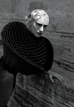 Junya Watanabe Comme des Garçons cape and dress.Hair by Eugene Souleiman for Wella Professionals; makeup by Peter Philips for Dior; manicure by Fatos Sahbudak at K.U.M Agency. Model: Julia Nobis at DNA Model Management. Produced by Gracey Connelly. Local Production by PPR Istanbul. Digital Technician: James Naylor. Photography Assistants: Simon Roberts, Huan Nguyen, Maru Teppei. Fashion Assistants: Ryann Foulke, Dena Giannini. Hair Assistant: Pasha Fatih Tinmaz. Makeup Assistant: Ji Young…