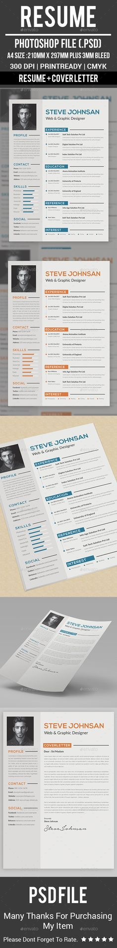 Resume Specifications: Resume plus bleeds total 300 dpi, CMYK photos areNOTincluded. All text editable wi Resume Layout, Job Resume, Resume Tips, Resume Design, Resume Ideas, Resume Action Words, Resume Words Skills, College Resume Template, Best Resume Template