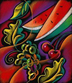 Cuadros Modernos Pinturas : Frutas: Compendio de Cuadros Abstractos de Leon Zernitsky
