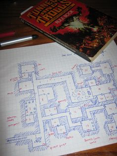 Tunnels & Trolls, designing, mapping, by Mana-Junkie