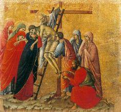 Duccio di Buoninsegna - Maestà - Retro - Deposizione della croce - 1308-11 - Tempera e oro su tavola - Museo dell'Opera del …