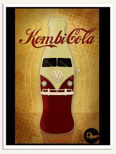 Kombi Cola Lindoooooo! Kombi Camper, Volkswagen Bus, Camper Van, Garage Signs, Amazing Cars, Decoration, Vintage Posters, Coca Cola, Classic Style