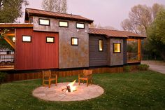 actually its the Lofthaus...The Caboose Park Model Trailer | Wheelhaus - Luxury Rolling Cabins