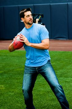 Aaron Rodgers at work on casual Friday.