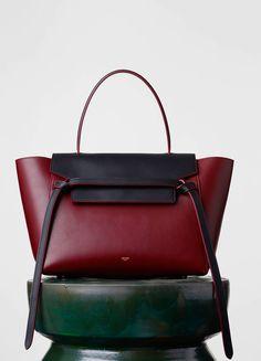 CELINE MINI BELT BAG IN DARK RUBY COLOURS — SAND, LIGHT SMOKE, DARK RUBY 2.700 USD