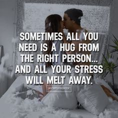 Sometimes all you need is a hug from the right person... and all your stress will melt away. Like and comment if you feel this! ➡️ @npmusik for more! #nowplayingmusik