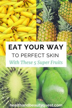 If you need a quick, easy and effective way to a glowing, healthy complexion, snacking on these 5 fruits will do the trick! Eating your way to glowing skin is a Foods For Healthy Skin, Healthy Skin Care, Healthy Meals, Healthy Eating, Organic Skin Care, Natural Skin Care, Natural Beauty, Skin Tips, Skin Care Tips