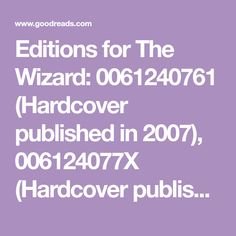 Editions for The Wizard: 0061240761 (Hardcover published in (Hardcover published in (Kindle Edition published in and 3rd Grade Books, Third Grade, Readers Workshop, Guided Reading, Kindle, Books To Read, Reading Workshop, Reading Lists