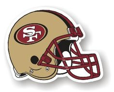 The San Francisco 49ers Vinyl Helmet Magnet looks great on cars, trucks, or any other metal surface