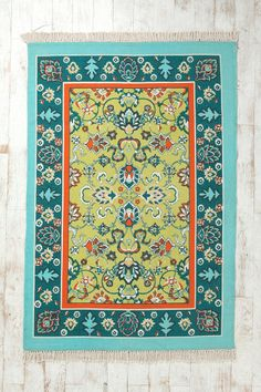 Magical Thinking Bazaar Handmade Rug - Urban Outfitters: perfect rug for kitchen if I paint the walls green! Futons, Living Room Carpet, My Living Room, Bedroom Carpet, Urban Outfitters Rug, Funny Welcome Mat, Affordable Rugs, 4x6 Rugs, Magical Thinking