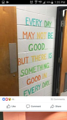 Murals in a middle school bathroom are inspiring girls to be kinder — both to themselves and others. Classroom Quotes, Classroom Door, Classroom Design, Future Classroom, School Classroom, Classroom Organization, Science Classroom, Classroom Ideas, Beginning Of School