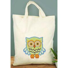 Craftways® Green Owl Tote Bag Punch Needle Kit $34.99
