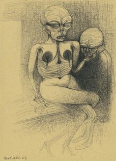 Zdzislaw Beksinski - Bocetos, dibujos y delirios [Arte]
